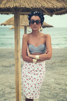 I love this beach glam look! Street Style 2014, Looks Street Style, Boho Fashion Summer, Love Fashion, Gabriel, Little Girl Singing, 2014 Fashion Trends, Fade Styles, Hey Girl