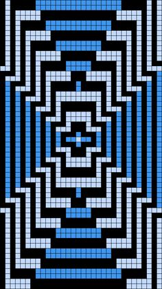 Artwork by at Grid Paint. Bead Loom Patterns, Beading Patterns, Knitting Patterns, Crochet Bedspread Pattern, Tapestry Crochet, Cross Stitch Pattern Maker, Counted Cross Stitch Patterns, Pixel Art, Tapete Floral