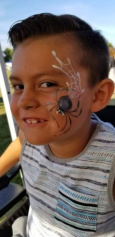 Spider face paint by Jazzy Farewell