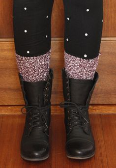 diy polka dot leggings
