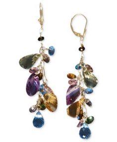 Gemma by EFFY Multistone Cluster Earrings in 14k Gold