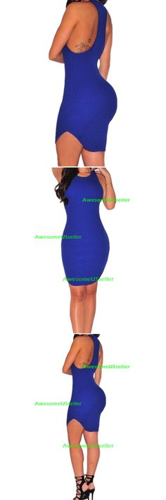 Clubwear: Women Bandage Bodycon Casual Sleeveless Evening Party Cocktail Club Mini Dress -> BUY IT NOW ONLY: $9.59 on eBay!