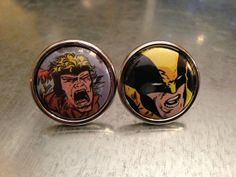 Wolverine and Sabertooth  Cuff Links by urbanindustries on Etsy, $27.00- oh my want,want,want