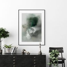 Rising Tide | Mariëtte Kotzé | Green & Grey Abstract | Giclée Print | Limited edition of 10 Colorful Clouds, Ink Wash, White Ink, Macro Photography, Green And Grey, Giclee Print, Fine Art Prints, Abstract, Artwork