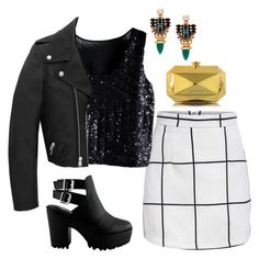 """""""Untitled #1452"""" by lauraafreedom ❤ liked on Polyvore featuring Yves Saint Laurent, Elizabeth Cole and Moschino"""