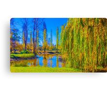 Autumn Reflections at Malmsbury Canvas Print