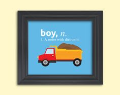 8x10 print boy a noise with dirt on it by RainbowsLollipopsArt, $10.00