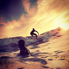 Sunset surfing...