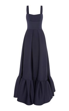 Cora Frill Hem Gown by Rachel Gilbert Fall Winter 2018 Modest Dresses, Pretty Dresses, Casual Dresses, Fashion Dresses, Evening Dresses, Summer Dresses, Beautiful Outfits, Dress To Impress, Designer Dresses