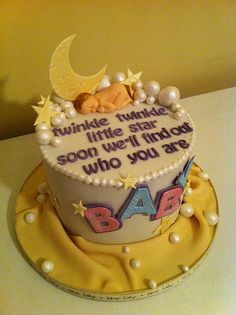 Baby shower cake-cute Reveal cake