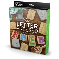 Letter Pressed Cookie Cutter/Stampers -- two of my favorite things!
