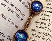 TARDIS Blue Round Glitter Nail Polish Cabochon Earrings