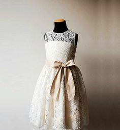 22bef963dbe Mid Calf Lace Dress. Cute Flower Girl ...