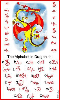 free printable The Alphabet in Dragonish