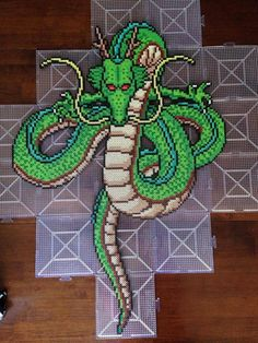 Shenron - DBZ  perler beads by herswansong - Visit now for 3D Dragon Ball Z shirts now on sale!