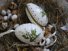 Pysanka egg with  Lilies Of The Valley Polish easter by Bettineum, $29.54