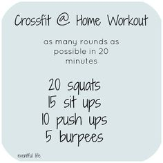 Crossfit (Squats, Sit Ups, Push Ups, Burpees) Fitness Workouts, Fitness Tips, Health Fitness, Fitness Classes, Sanftes Yoga, Crossfit Workouts At Home, Crossfit Workouts For Beginners, Crossfit Leg Workout, Crossfit Humor