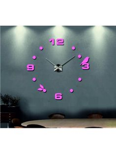 Modern wall clock - SABAS Reference:  12S006-RAL4003-S-COLOR* Condition:  New product  Availability:  In Stock  Choose a color by yourself! The time has come much more cozy realít new clock. 3D large wall clock is a beautiful decoration of your interior. You'll never be late.
