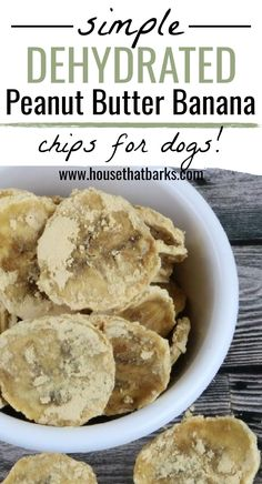 Dehydrated peanut butter banana chips are delicious and use only 2-ingredients and a dehydrator. Bananas have a delicious taste your pet will love them!