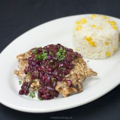 CRISPY PORK CHOPS WITH POMEGRANATE SAUCE