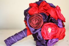 Fabric bouquet Custom bridal bouquet Fabric by thepaisleymoon, $195.00