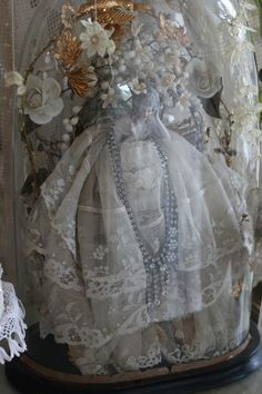 Sheelin Antique Lace Shop Porcelain Lady