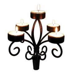 Mother's Day Gift: True Fabrications Wine Bottle Candelabra