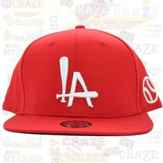 TopCul Urban Hip Hop Rap Streetwear Hat Los Angeles LA Red Snapback Baseball Cap – MyCraze #TopCul #Streetwear #HipHop #LosAngeles #LA #Snapback #BaseballCap