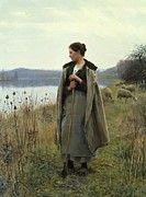 "New artwork for sale! - "" The Shepherdess Of Rolleboise 1896 by Knight Daniel Ridgway "" - http://ift.tt/2lHVkzJ"