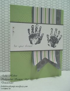Stampin' Up! Baby Prints stamp set & Twitterpated DSP-retiring. fortheloveofstamps.wordpress.com