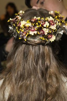 The elevated flower crown was everything at Rodarte's Fall 2016 fashion show