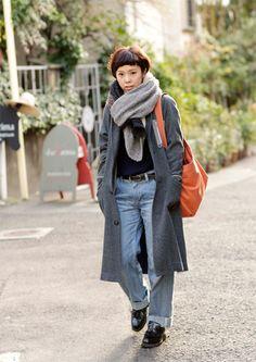 FUDGE.JP — Snap No.361 Fudge, Style Ideas, Rome, Street Style, Eyes, Denim, Chic, Simple, Fall