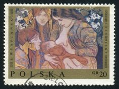 Poland Breastfeeding Postage Stamp