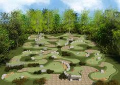 drawings of mini golf courses for permits - Google Search