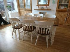 Vintage Pine Farmhouse Table and Chairs made to order (Listing price is for the standard table o