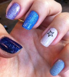 Nails of the week – blues and purples - So Many Lovely Things