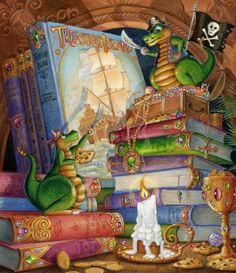 Arrgggh!!! Me chocolate chip cookie fer yer treasure! Except I already ate some of it. Oh never mind, I'll eat the cookie. (Art of Randal Spangler) #pirate #magic