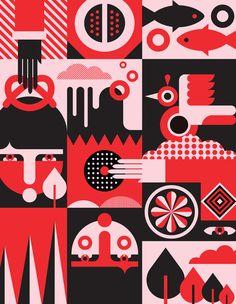 Flat Design Illustration, Digital Illustration, Pattern Art, Abstract Pattern, Vector Design, Design Art, City Poster, We Are The World, Graphic Design Posters