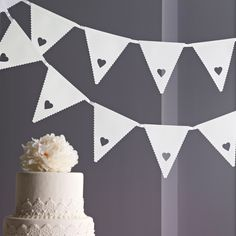 Heart Flag Banner ... Wedding ideas for brides, grooms, parents & planners ... https://itunes.apple.com/us/app/the-gold-wedding-planner/id498112599?ls=1=8 … plus how to organise an entire wedding, without overspending ♥ The Gold Wedding Planner iPhone App ♥