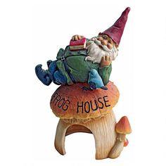Gnome Frog House Garden Statue
