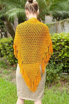 offset broomstick lace #crochet shawl pattern