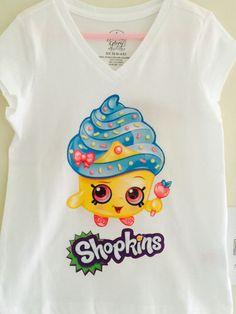 Shopkins Custom T Shirts by KyliesRoom on Etsy
