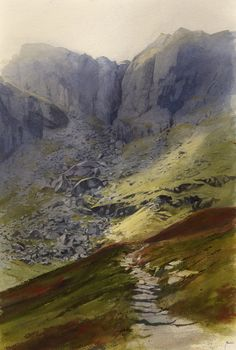 Path to the Devil's Kitchen, an original watercolour painting by Rob Piercy
