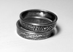 Ohio State US Quarter Ring Handmade for Your Size * More info could be found at the image url. (This is an affiliate link) Quarter Ring, Things To Buy, Stuff To Buy, Fun Stuff, Handmade Rings, Leather Cuffs, Hand Stamped, Ohio, Rings For Men