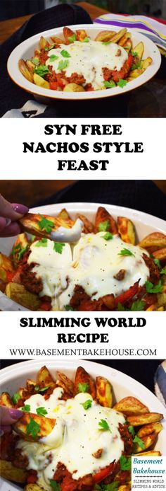 Syn Free - Nachos Style Feast - Slimming World - Recipe astuce recette minceur girl world world recipes world snacks Slimming World Dinners, Slimming World Recipes Syn Free, Slimming World Syns, Slimming Eats, Slimming World Fakeaway, Slimming World Lunch Ideas, Slimming World Breakfast, Slimming World Chilli Beef, Slimming World Minced Beef Recipes