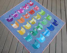 mini quilt cat