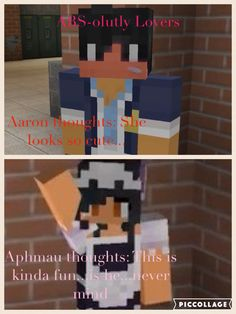 When Aaron sees Aphmau in a maid outfit