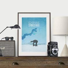 Star Wars Minimalist Poster - Empire Strikes Back