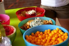 Have round food...cheese puffs, melon balls, etc