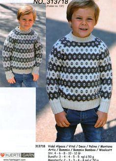 Færøsk sweater, strikket i Vidal Alpaca, Vital, Bommix eller Bommix Bamboo fra Hjertegarn (313718)